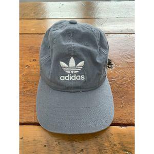 Adidas Trefoil Gray Baseball Cap White Logo